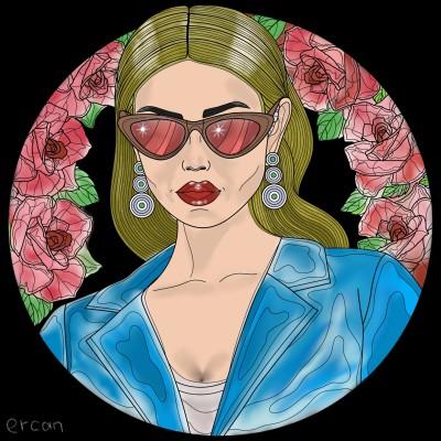 lady in blue | masterT | Digital Drawing | PENUP