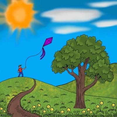 Kite Flyer | LDB | Digital Drawing | PENUP