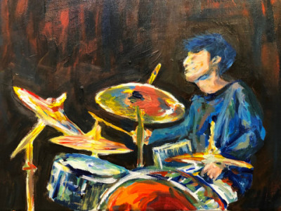 드럼 치는 남자 | violet | Digital Drawing | PENUP