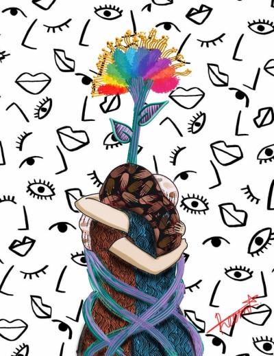 |Long Tight Hug| | Reema21 | Digital Drawing | PENUP