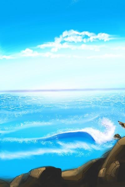 Wavy beach | Dexter | Digital Drawing | PENUP