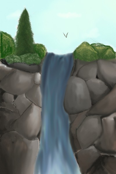 Rocky river  | RayaPeach | Digital Drawing | PENUP