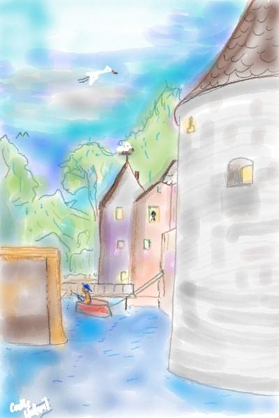 Castle Hallwil | Rhyneptun | Digital Drawing | PENUP
