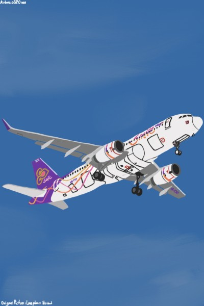 Airbus A320 Neo Thai Smile   wandee   Digital Drawing   PENUP