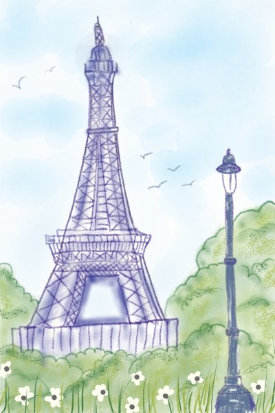 Love in Paris ♡♡♡ | Sylvia | Digital Drawing | PENUP