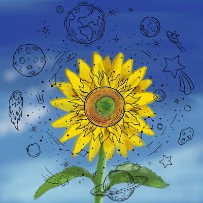 sun flower  | J-O-C | Digital Drawing | PENUP