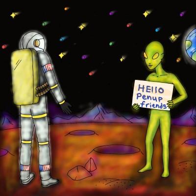 Hello Penup Friends! ☆ | Danilyn95 | Digital Drawing | PENUP