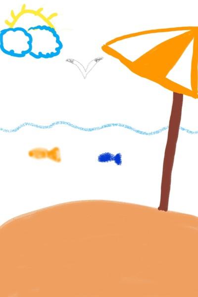 해변&바다 | sophie | Digital Drawing | PENUP