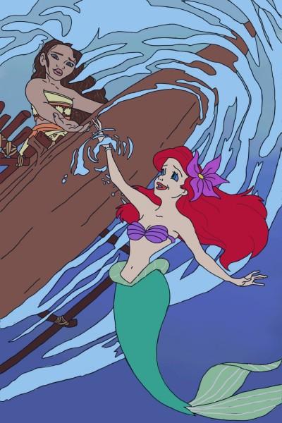 Moana and Ariel | MaryJen | Digital Drawing | PENUP