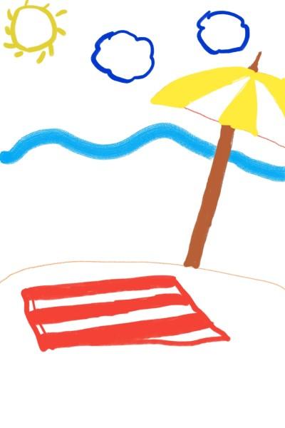 해변 비치 | sophie | Digital Drawing | PENUP