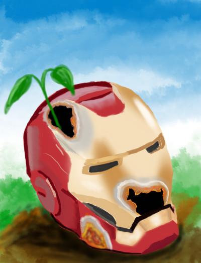 rusty ironman mask | OmrGhabban | Digital Drawing | PENUP