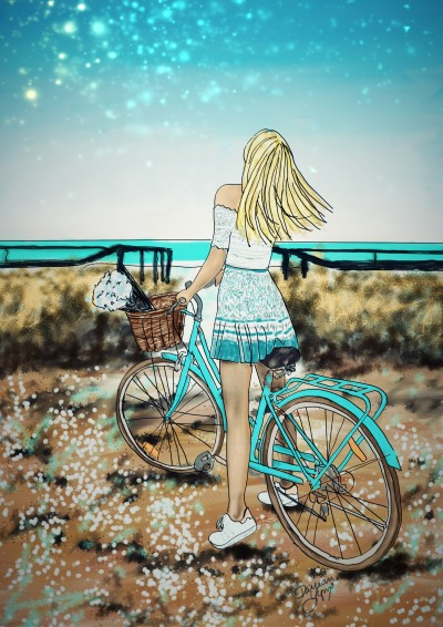 Beach Bicycle | missdarrian | Digital Drawing | PENUP