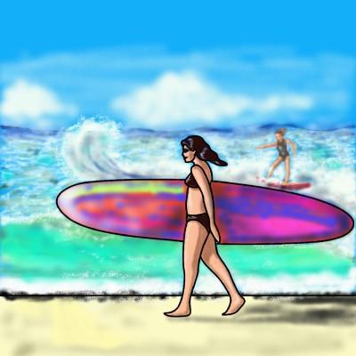Surfing | jenart | Digital Drawing | PENUP