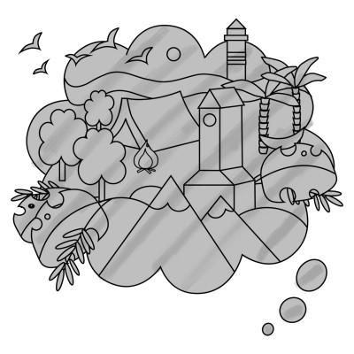 Coloring Digital Drawing | Dark-Night | PENUP