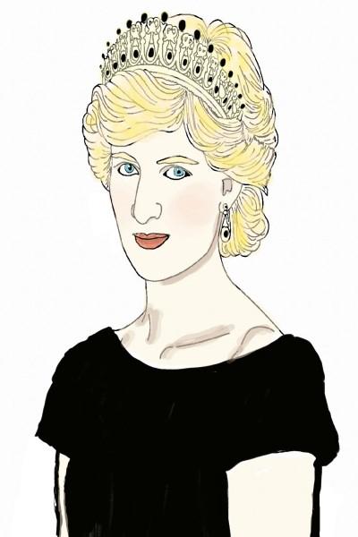 Princess Diana-collab for SibaDamas | Natasha | Digital Drawing | PENUP