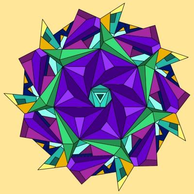 Flor en triángulo  | ClausMtz | Digital Drawing | PENUP