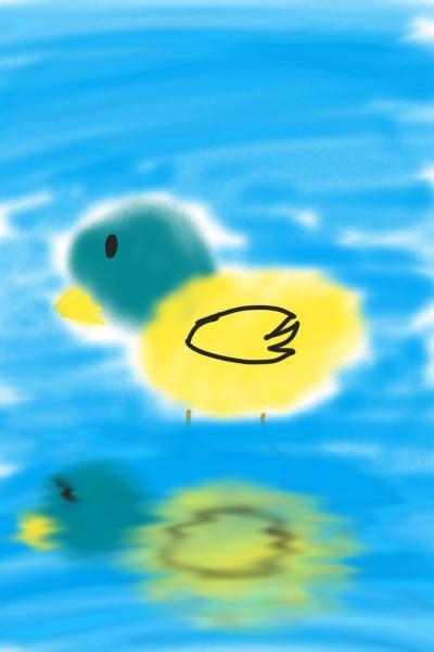 호수에 들어간 오리 | Bunny | Digital Drawing | PENUP
