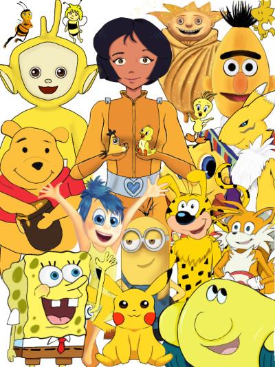 yellow cartoon characters  | Haneen | Digital Drawing | PENUP
