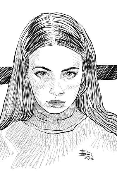Portrait Digital Drawing | jericojhones | PENUP