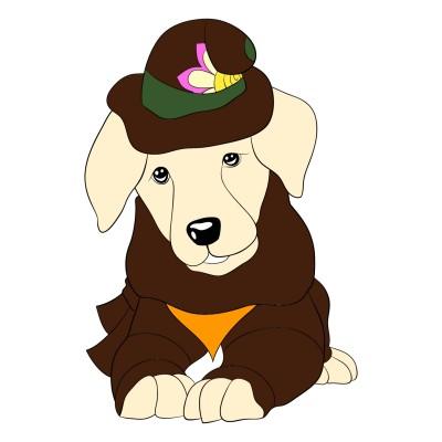 귀여운 강아지 탐정 누렁이   narsha   Digital Drawing   PENUP