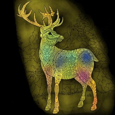 밝은 황금 무지게사슴 | narsha | Digital Drawing | PENUP