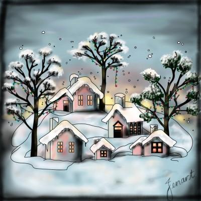 Snow Scene | jenart | Digital Drawing | PENUP