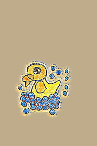 Duck in distress with bubbles   cara   Digital Drawing   PENUP