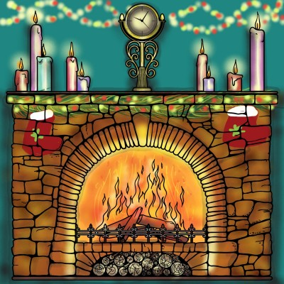 Fire place mantle  | Sylvia | Digital Drawing | PENUP