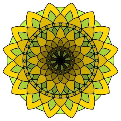 coloring a mandala  | luckyramni | Digital Drawing | PENUP
