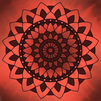 Red Mandala | tpriz | Digital Drawing | PENUP