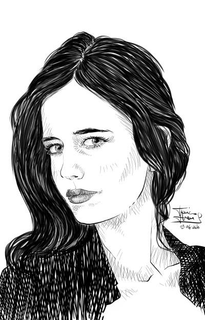 Eva Green  | jericojhones | Digital Drawing | PENUP