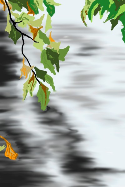 River, shrubs and leaves | AntoineKhanji | Digital Drawing | PENUP