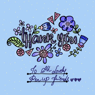 Thank you all lovely penup friends ♡♡♡ | Sylvia | Digital Drawing | PENUP