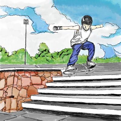 OLIE NA ESCADARIA  | Jeronimomailson | Digital Drawing | PENUP