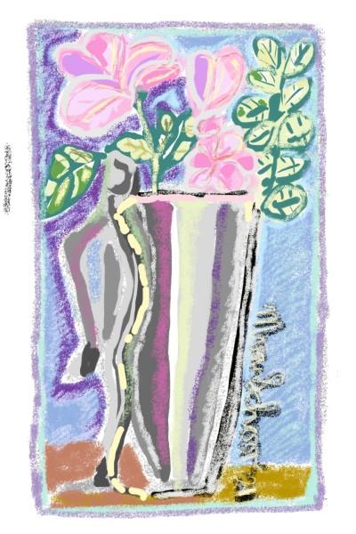 #stillife#vase#flowers#colours#enjoyment | marinavanschoor | Digital Drawing | PENUP