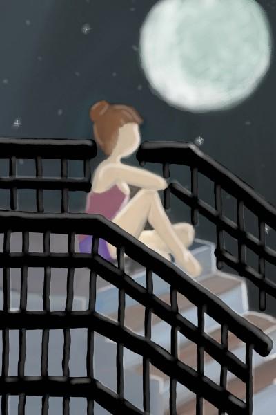 Starry night | BlueJay | Digital Drawing | PENUP