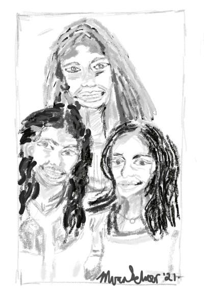 Our 3 daughters | marinavanschoor | Digital Drawing | PENUP