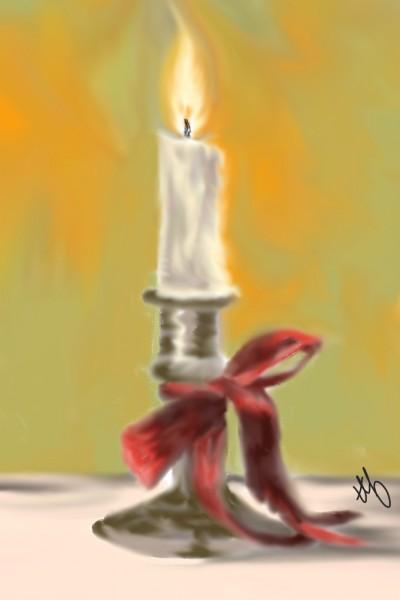 Red Ribbon Glow | TeeTee | Digital Drawing | PENUP