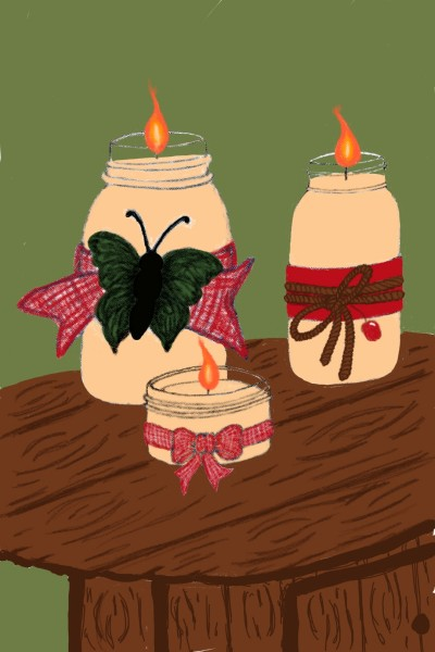 Country Candle Mason Jar Candles  | ForTheLoveOfArt | Digital Drawing | PENUP