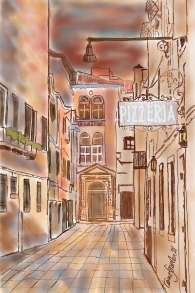 Italian Village | TeeTee | Digital Drawing | PENUP