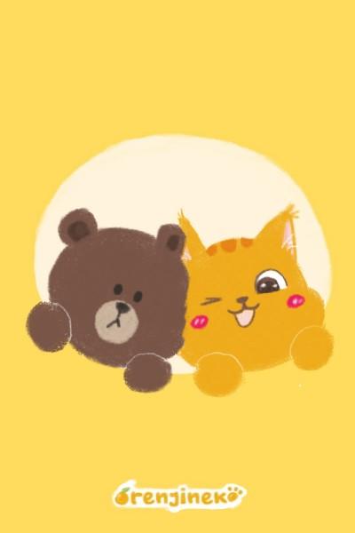 Orenji and Brown | Orenjineko | Digital Drawing | PENUP