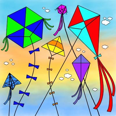 Kites And PENUP | Bekkie | Digital Drawing | PENUP