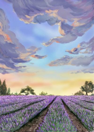 The Lavender Farm | One2three | Digital Drawing | PENUP
