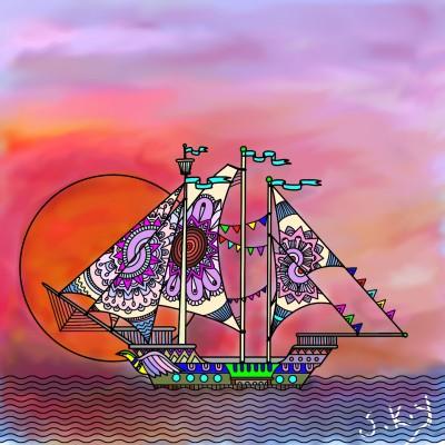 Coloring Digital Drawing | SKY | PENUP