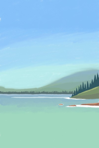 Mountain and river | rs704 | Digital Drawing | PENUP