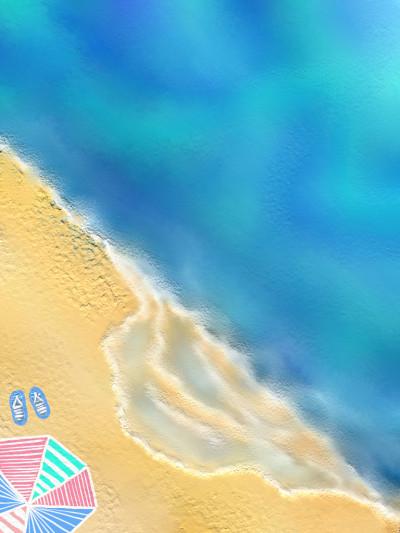 summer beach  | june | Digital Drawing | PENUP