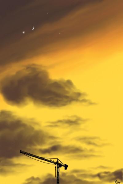 ⭐ YELLOW SKY ⭐ | Sina | Digital Drawing | PENUP