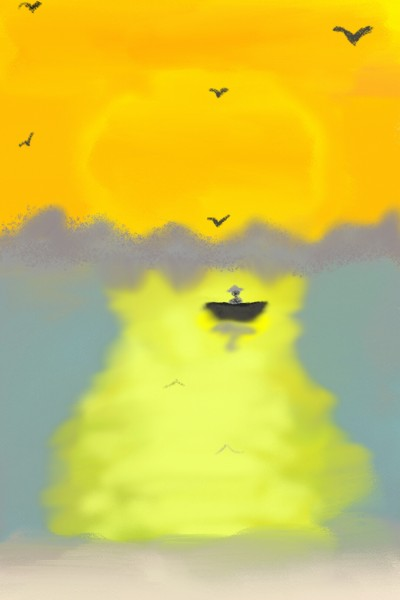 Sunset as the sun set, another day has ended | AllynP | Digital Drawing | PENUP