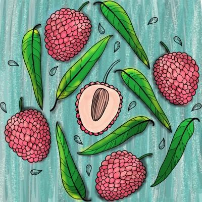 Lychee fruit  | Sylvia | Digital Drawing | PENUP