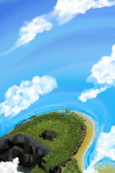 lonely Island beach  | Dexter | Digital Drawing | PENUP